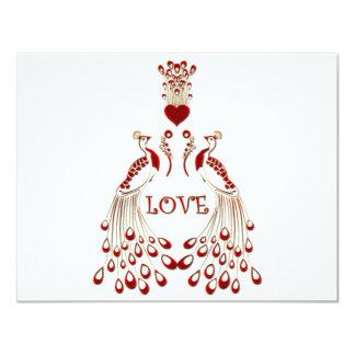 Peacocks Love Card