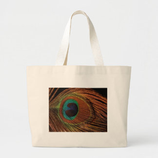 peacocks-plume-1red and gold large tote bag