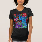 Peacocks with Flowers Art by heather Galler T-Shirt