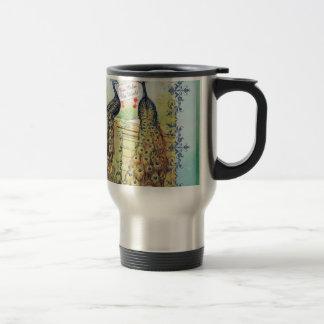Peacocks:  You Color My World Travel Mug