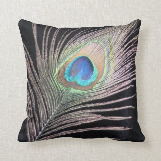 Peacok feather pillow