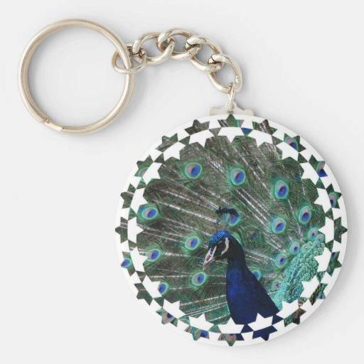 Peafowl Bird Keychain