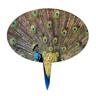 Peafowl colorido lindo decoración para tarta