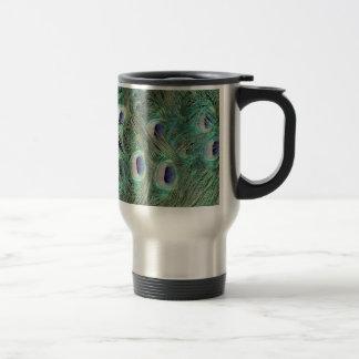 Peafowl Feather Art Travel Mug
