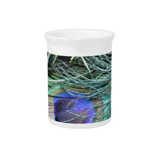Peafowl Feather Eye Drink Pitchers