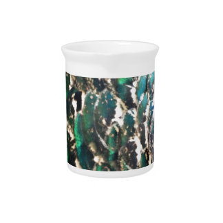 Peafowl Feathers Brilliant Colors Drink Pitchers
