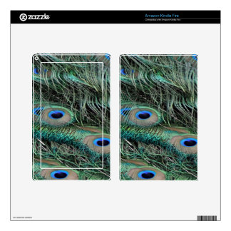 Peafowl Feathers iridescent eye   spots Kindle Fire Skin