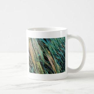 Peafowl Feathers No Eyes Colorful Coffee Mug