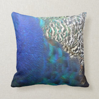 Peafowl Feathers Rich In Colors Throw Pillow