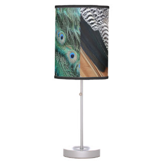 peafowl feathers small eyes desk lamp