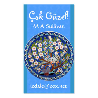 Peafowl floral tarjetas de visita