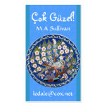 Peafowl floral tarjeta de visita