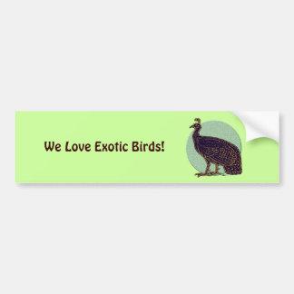 Peafowl:  Gallina impresionista de Congo Pegatina De Parachoque
