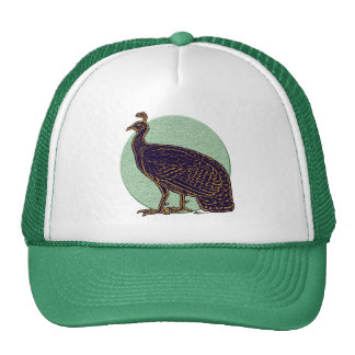 Peafowl:  Gallina impresionista de Congo Gorros Bordados