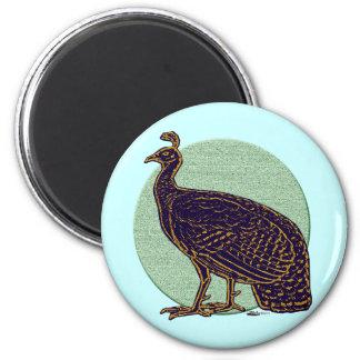 Peafowl:  Gallina impresionista de Congo Imanes De Nevera