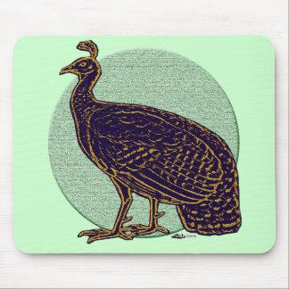 Peafowl:  Gallina impresionista de Congo Alfombrilla De Raton