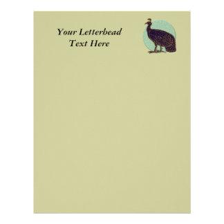 Peafowl:  Impressionistic Congo Hen Customized Letterhead
