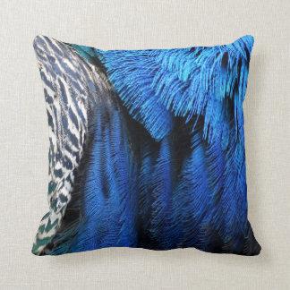 Peafowl mágico azul almohadas