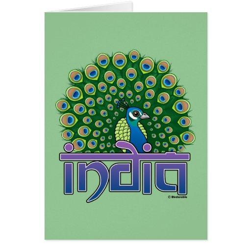 Peafowl Of India Greeting Card