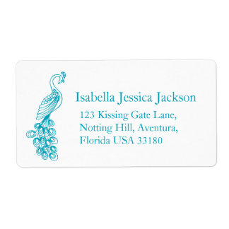 Peafowl / peacock return reply label shipping label