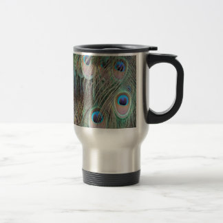 Peafowl Tail Feathers 15 Oz Stainless Steel Travel Mug