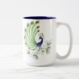 Peafowl Two-Tone Coffee Mug