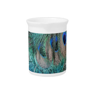 Peafowl Wing Feathers Pitcher