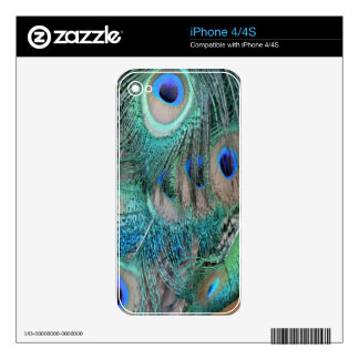 Peafowl Wing Feathers iPhone 4S Decals