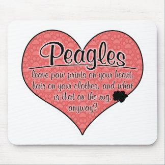 Peagle Paw Prints Dog Humor Mouse Pad