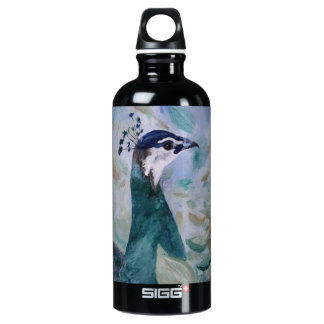 Peahen Portrait Aluminum Water Bottle