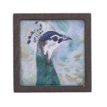 Peahen Portrait Gift Box Premium Keepsake Boxes