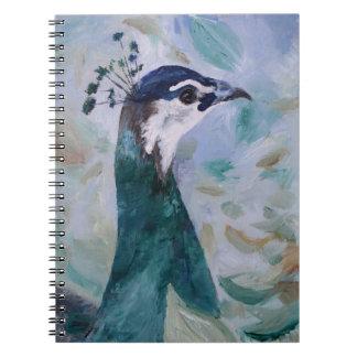 Peahen Portrait Notebook