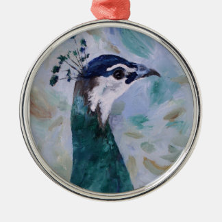 Peahen Portrait Ornament