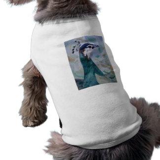 Peahen Portrait Pet Clothing