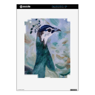 Peahen Portrait  Decal For The iPad 2