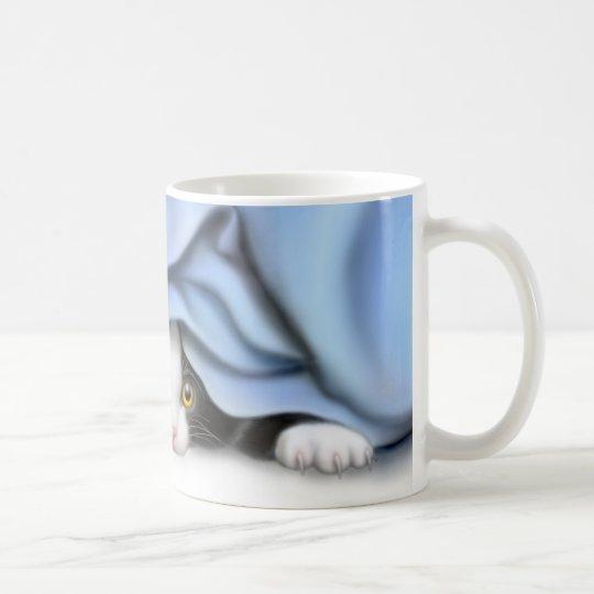 Peak-a-Boo Kitty Cat Mug
