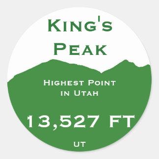 Peak de rey pegatina redonda