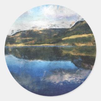 Peak District Classic Round Sticker
