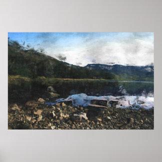 Peak District Landscape Poster