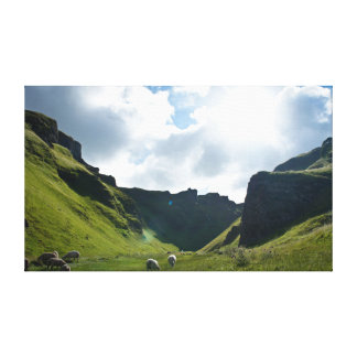 Peak District Valley Scene Gallery Wrapped Canvas