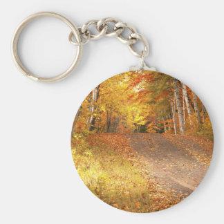 Peak Fall Foliage Season in the U. P. Keychain