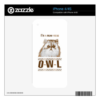 Peak-nose Owl (Cat) iPhone 4S Skin