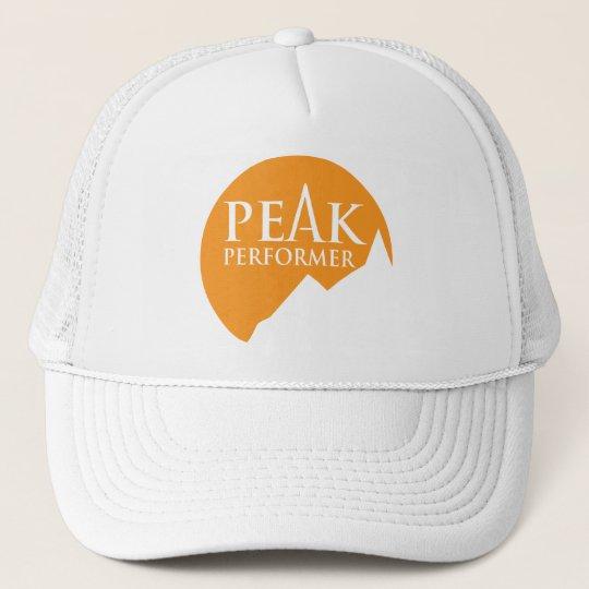 """""""Peak Performer"""" logo orange hat cap"""