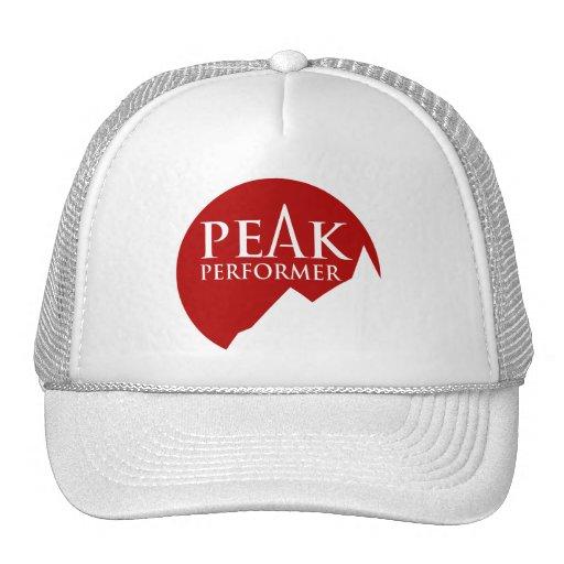 """""""Peak Performer"""" logo red hat cap"""