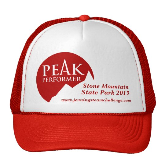 """Peak Performer"" mens logo red promotion cap"