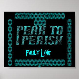 Peak to Perish Fault Line Poster