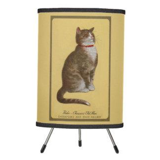 Peake, Chessie's Old Man tomcat tabby cat Tripod Lamp