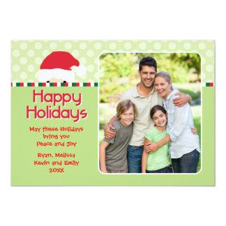Peaking Santa Photo Holiday Card