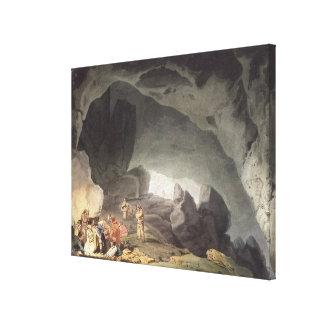 Peaks Hole, Derbyshire (colour engraving) Canvas Prints