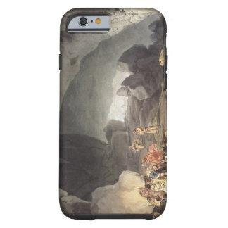 Peaks Hole, Derbyshire (colour engraving) Tough iPhone 6 Case